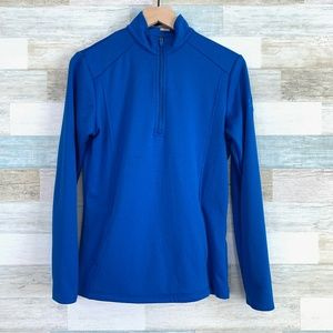 1/4 Zip Thermal Pullover Blue Callaway Opti-Dri